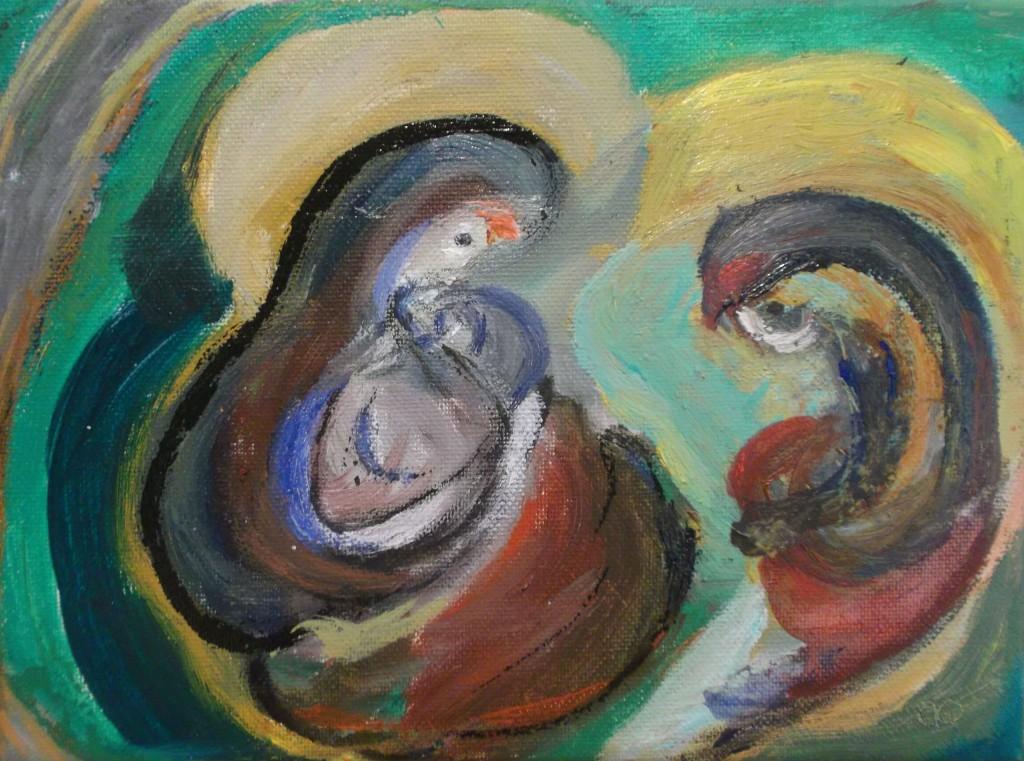 Olieverf op doek, 18 x 24 cm