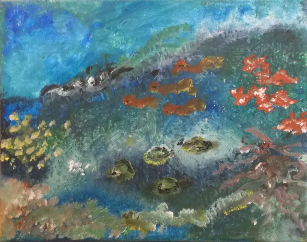 acryl op doek, 24 x 30 cm