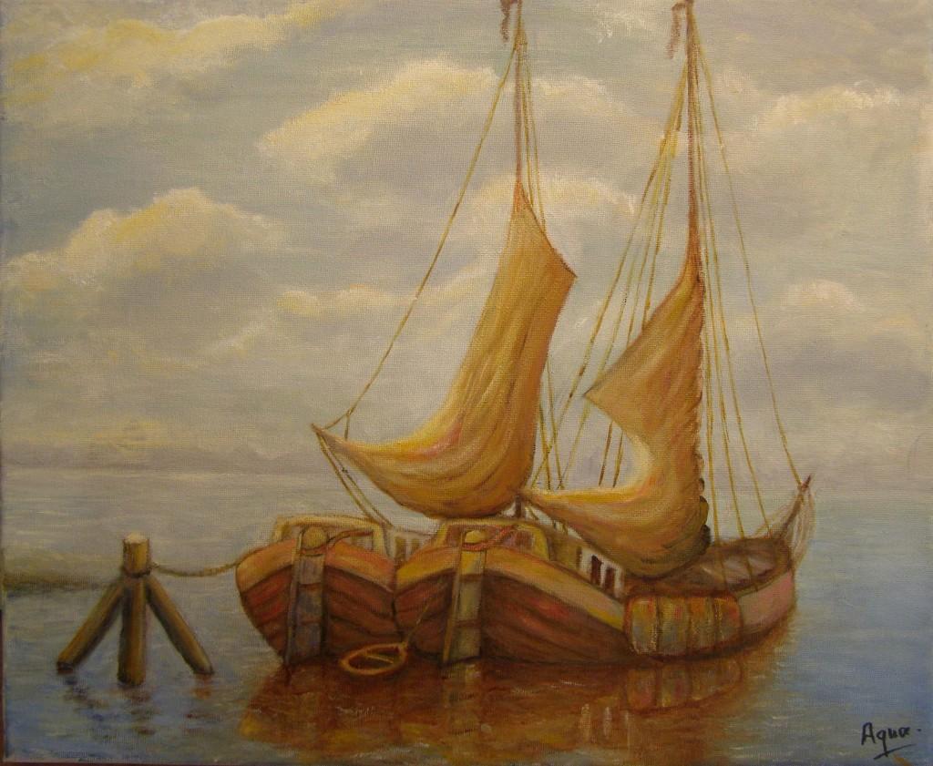 olieverf op doek, 35 x 45 cm