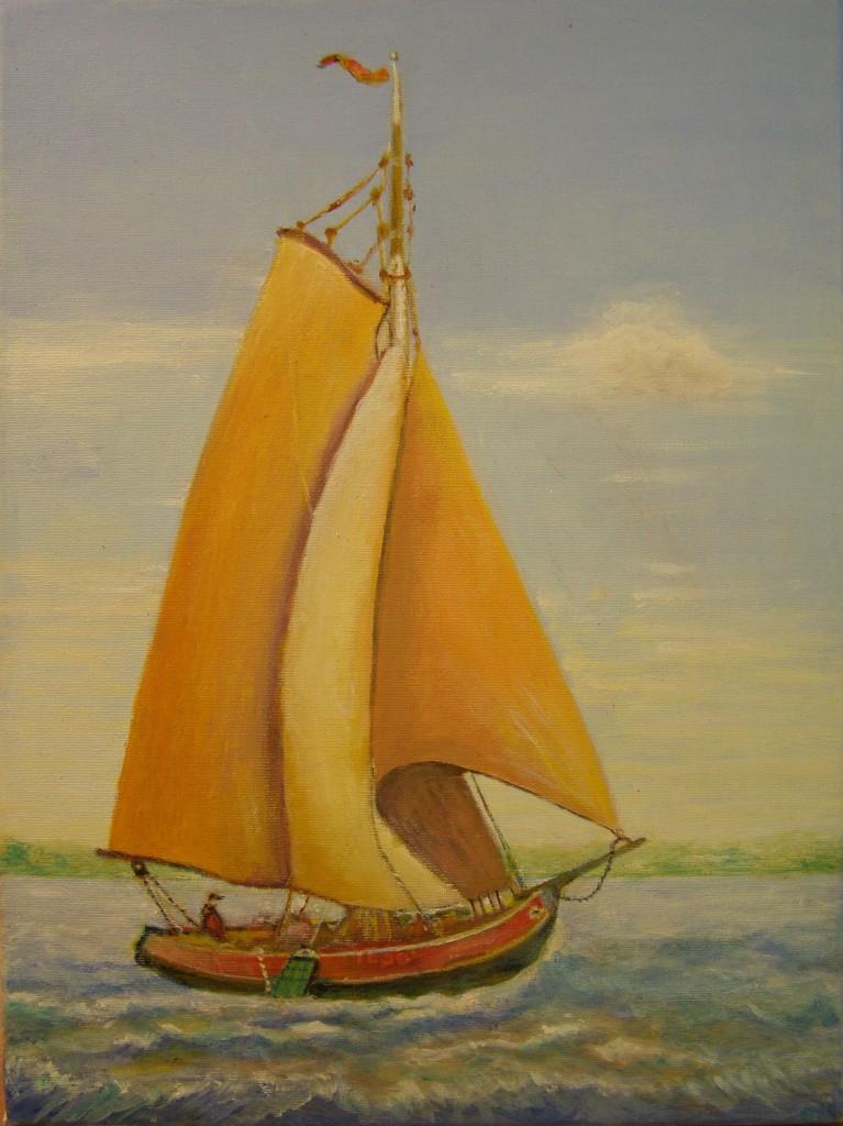 Olieverf op doek, 30 x 40 cm