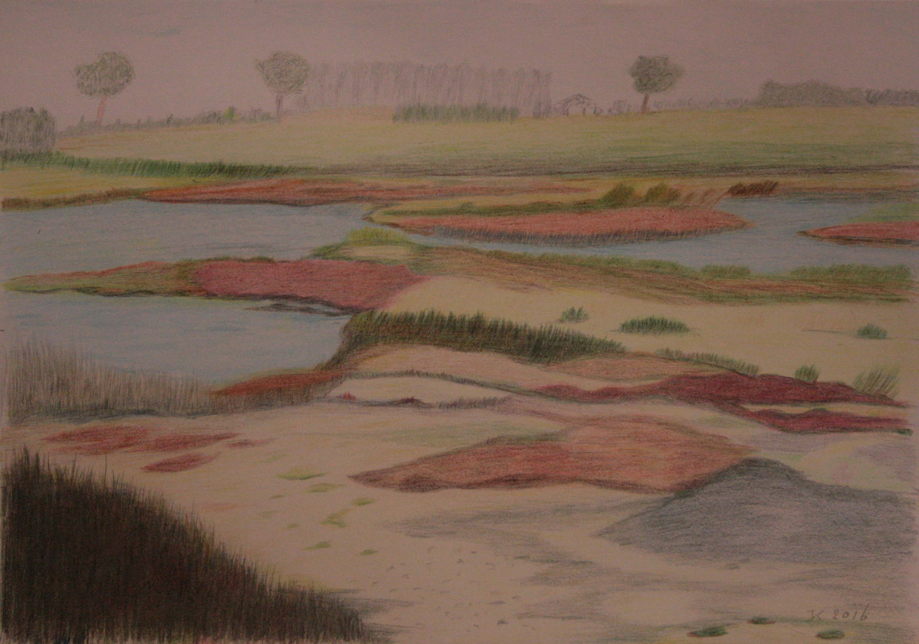 kleurpotlood op papier 42x30 cm