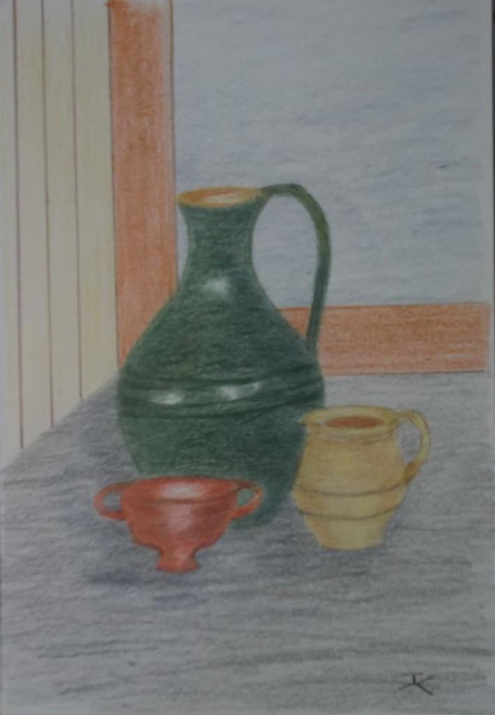 Kleurpotlood, formaat 18 x 26 cm