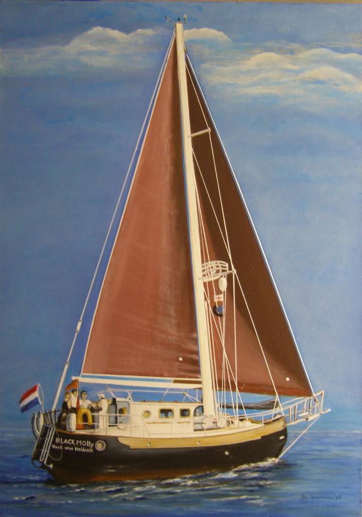 Olieverf op doek, 50 x 70 cm
