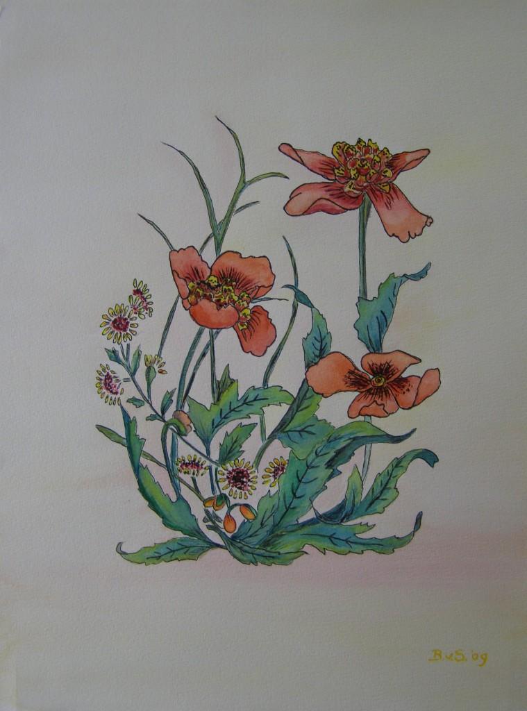 Gemengde technieken, 30 x 40 cm