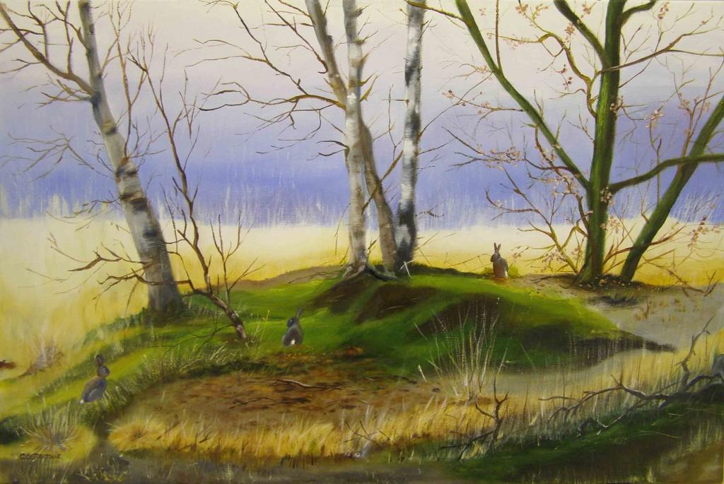 Olieverf op doek, 40 x 60 cm