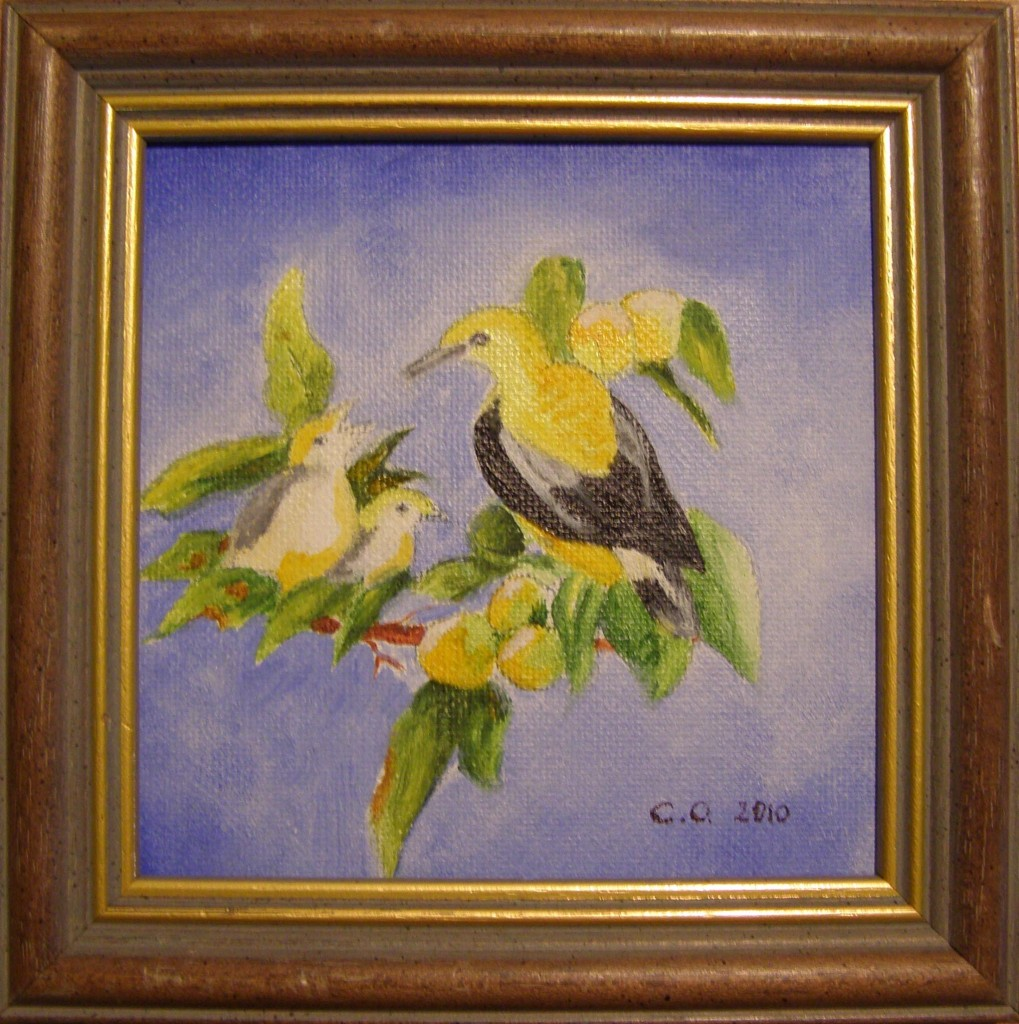 Olieverf op doek, 12 x 12 cm