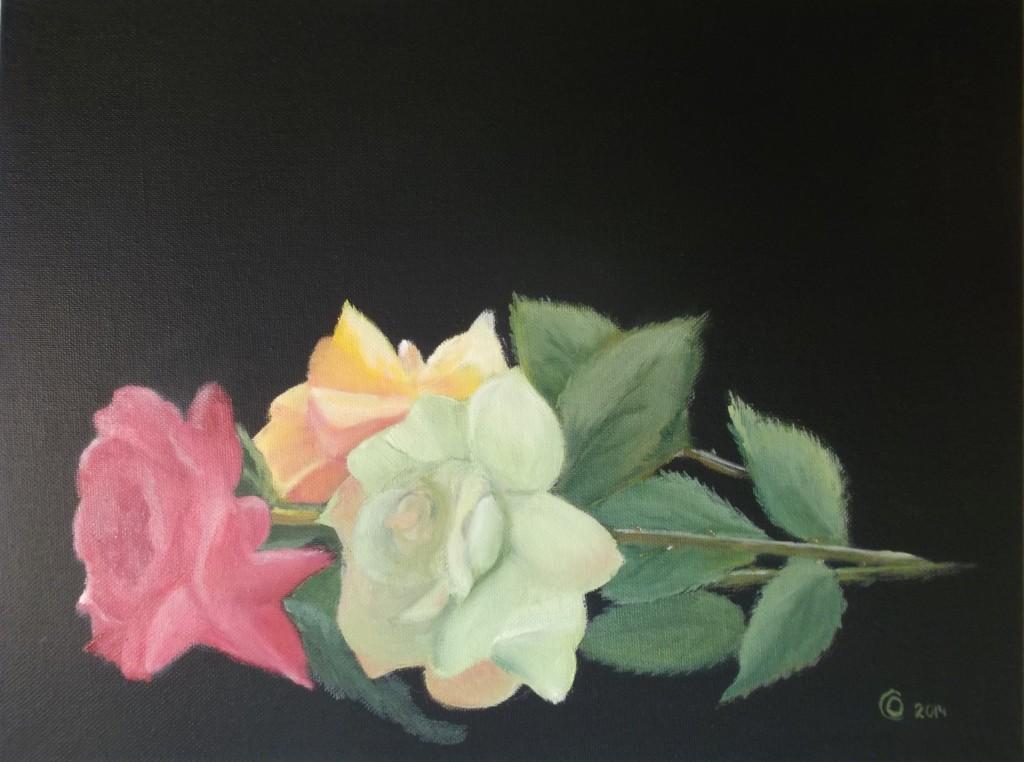 Acryl op paneel, 20 x 30 cm
