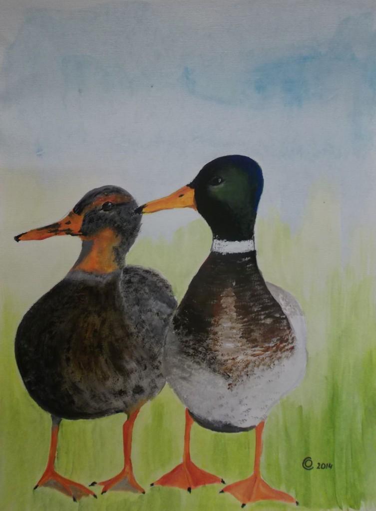 Acryl op papier, 30 x 40 cm