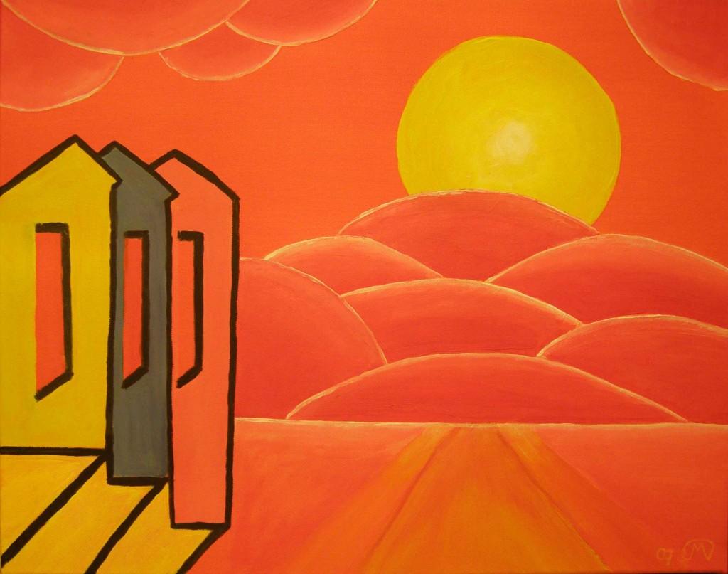 Acryl op doek, 40 x 50 cm