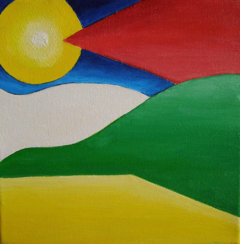Acryl op doek, 20 x 20 cm.