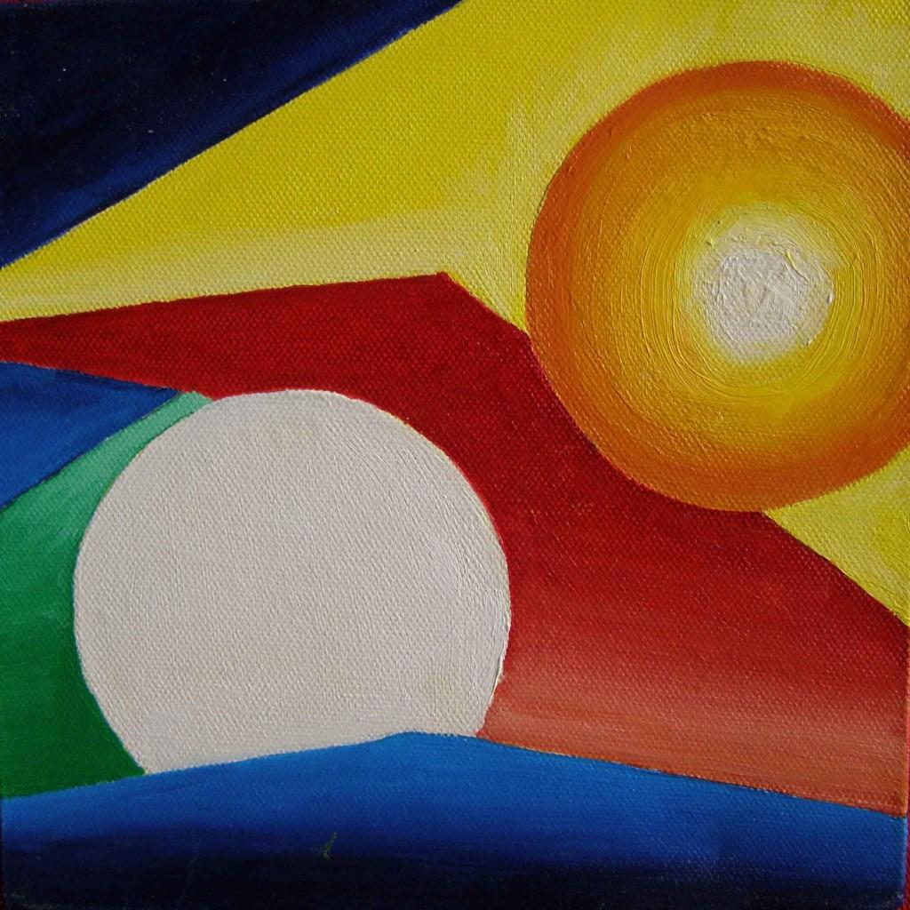 Acryl op doek, 20 x 20 cm
