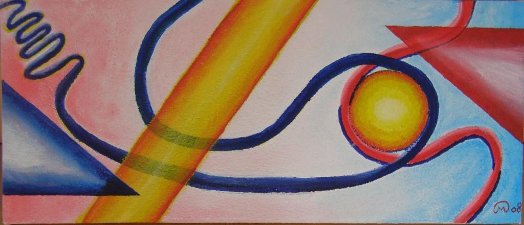 Acryl met structuurverf op doek, 30 x 70 cm