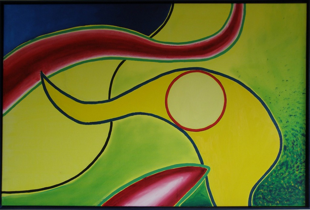 Olieverf op doek, 80 x 120 cm