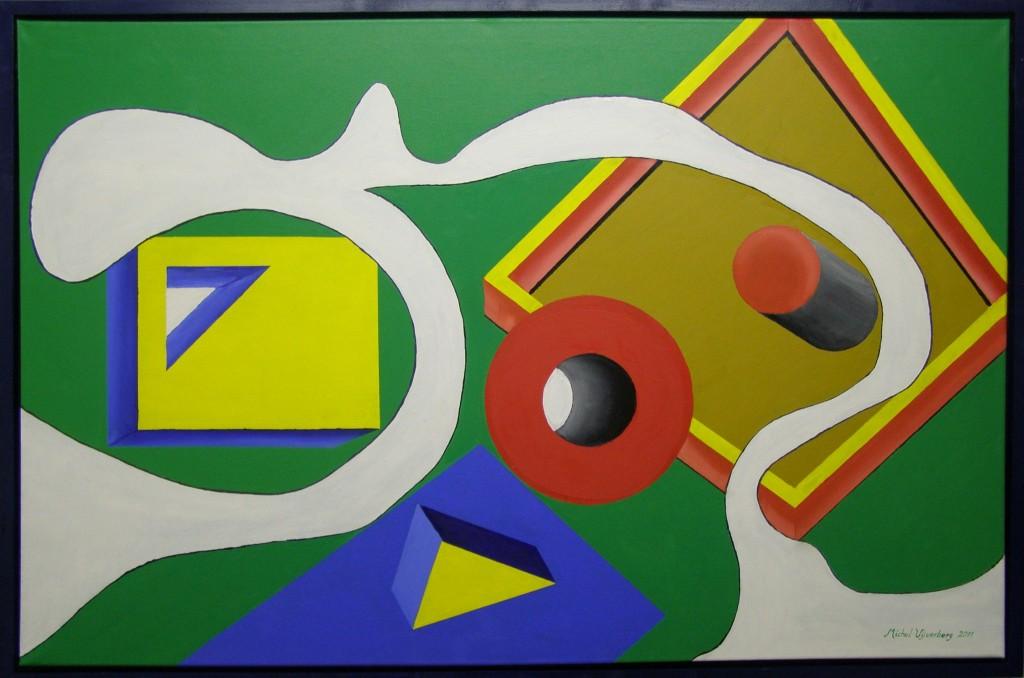 Olieverf en acryl op doek, 75 x 115 cm