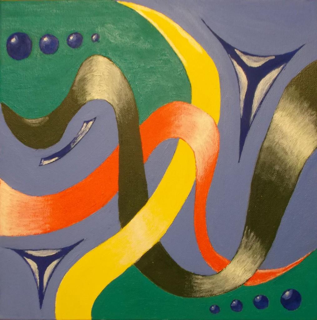 Olieverf op doek, 30 x 30 cm