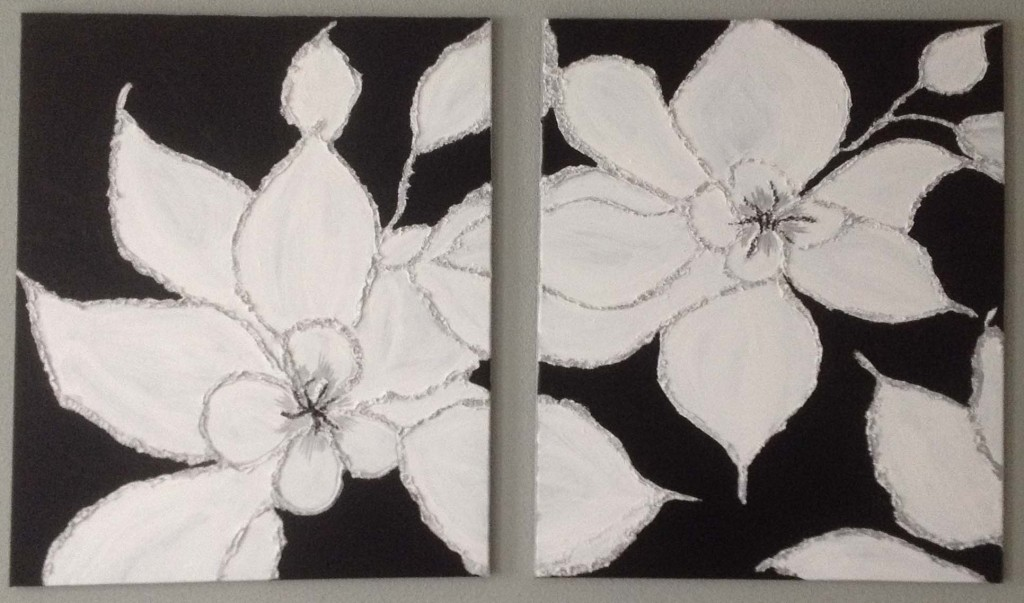 acrylverf 90x60 cm