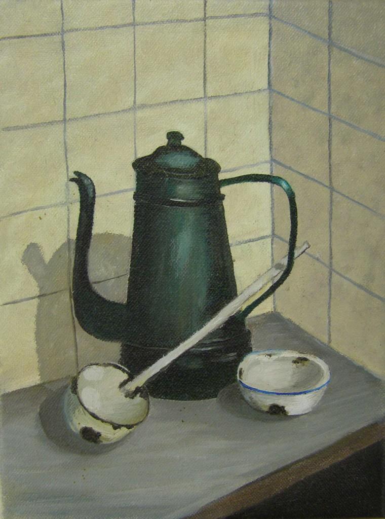 Stilleven, olieverf op doek, 18 x 24 cm