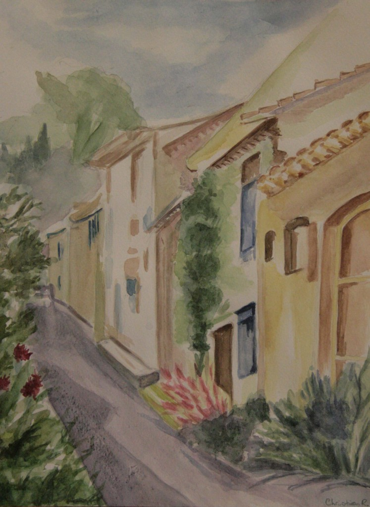 aquarel op papier 24x32 cm